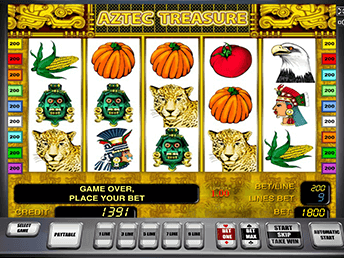 Aztec Treasure в вулкан Платинум